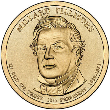 Presidential $1 Coin Program coin for Millard Fillmore. Obverse.