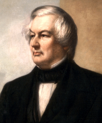 Portrait of Millard Fillmore, the thirteenth President of USA.