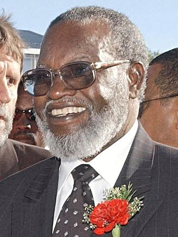 Sam Nujoma, president of Namibia from 1990 to 2005.