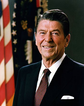 Official Portrait of Ronald Reagan - 40th President of United States of America