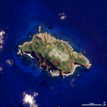 NASA Satellite Image of Pitcairn Island