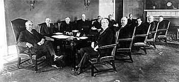 President Warren G. Harding's first cabinet in 1921.