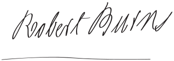 Signature of Robert Burns.