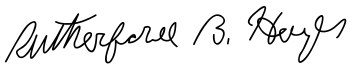 Signature of Rutherford B. Hayes.