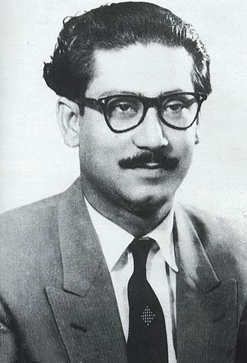 Sheikh Mujibur Rehman during the fifties