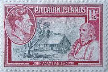 Stamp pitcairn islands 1,5 d
