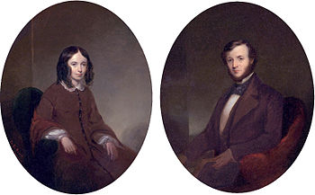 Portraits of Elizabeth Barrett Browning and Robert Browning