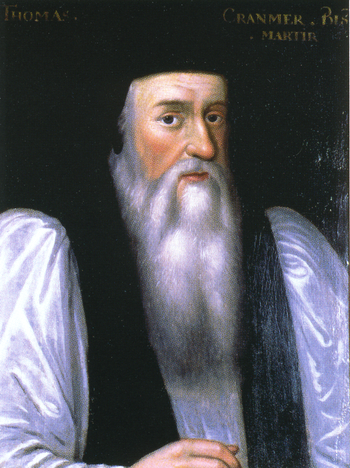Thomas Cranmer. First Archbishop of Canterbury.