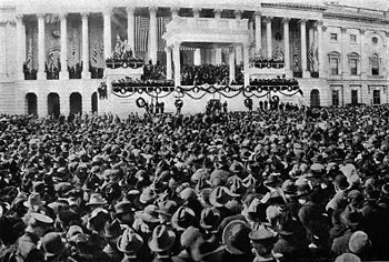 Inauguration of Warren G. Harding, March 4, 1921.