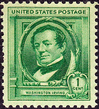 U.S. Postage stamp, Washington Irving commemorative issue of 1940.