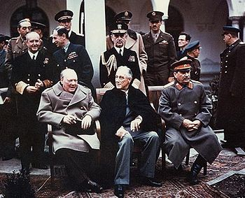 Yalta summit in February 1945