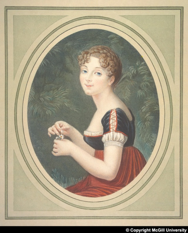 Portrait of Pauline Foures who became Napoleon's mistress during the Egypt campaign and was known as Napoleon's Cleopatra.