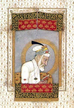 Aurangzeb reading the Quran.