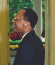 English: Jean-Bertrand Aristide meets Bill Cli...
