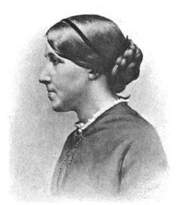 Image of American author Louisa May Alcott