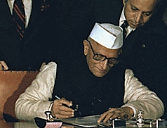 Indian Prime Minister Morarji Desai in New Del...