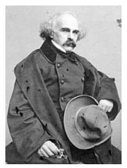 Portrait of Nathaniel Hawthorne, 1861, by William H. Getchell