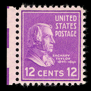 US Postage stamp of Zachary Taylor 12c